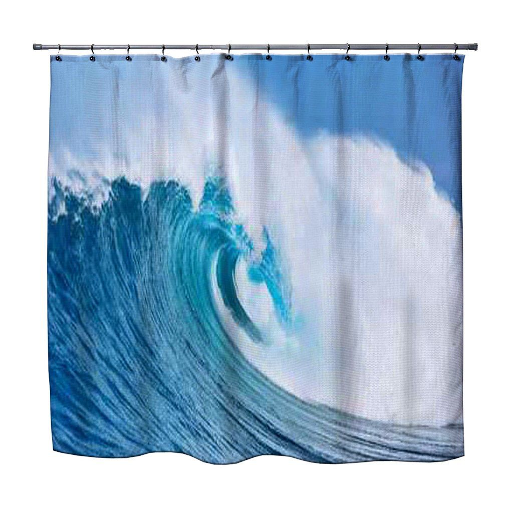 Ocean Wave Shower Curtain from Kids Bedding Company | Kids Eco ...