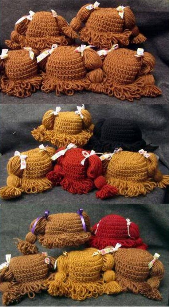 Crochet Cabbage Patch Hats Pattern Video Tutorial | Häckeln, Mütze ...