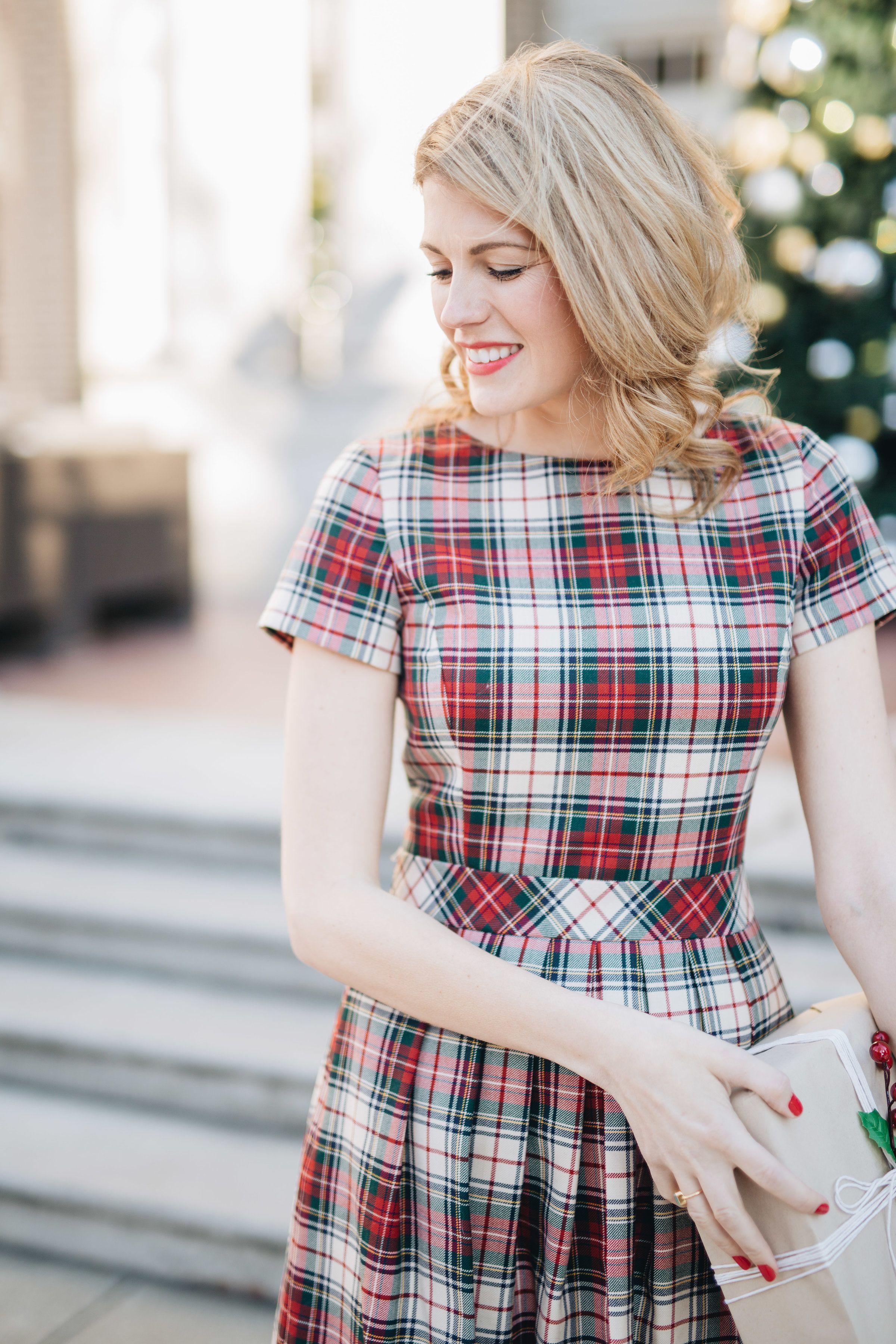 46++ Plaid dress women ideas