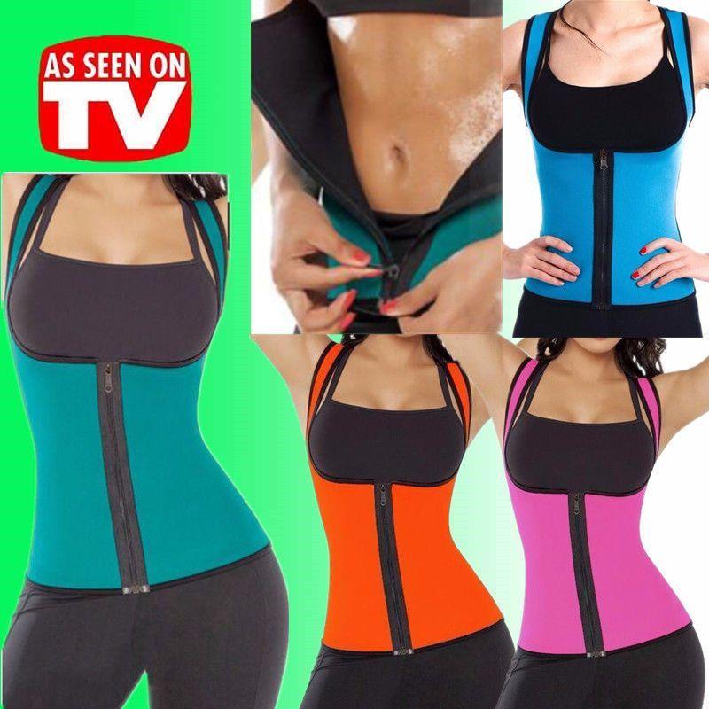 c2716a43a1804 Us Women Extreme Thermo Cami Shirt Belt Shaper Faja Sauna Vest Sweat Waist  Yoga