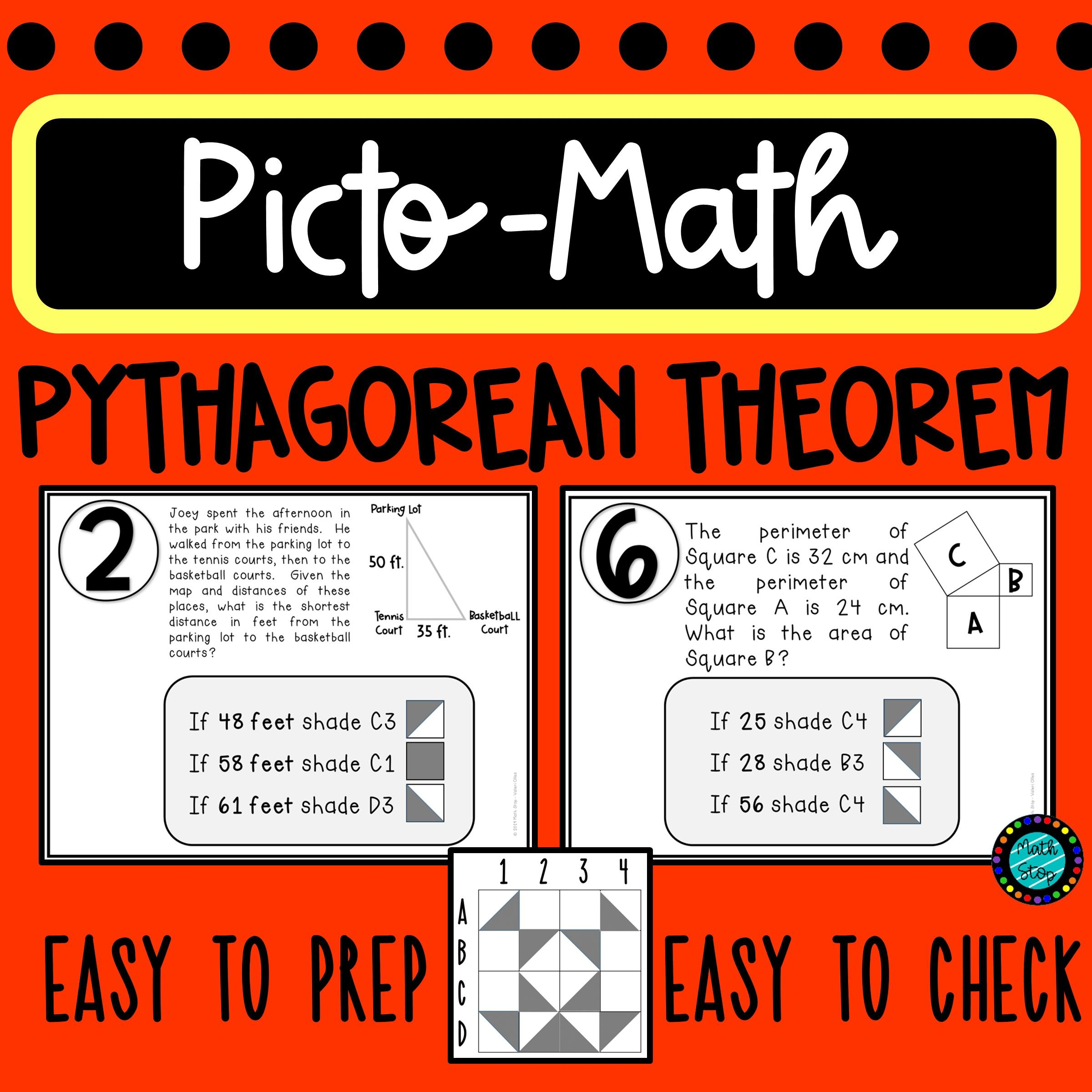 Pythagorean Theorem Pictomath Activity