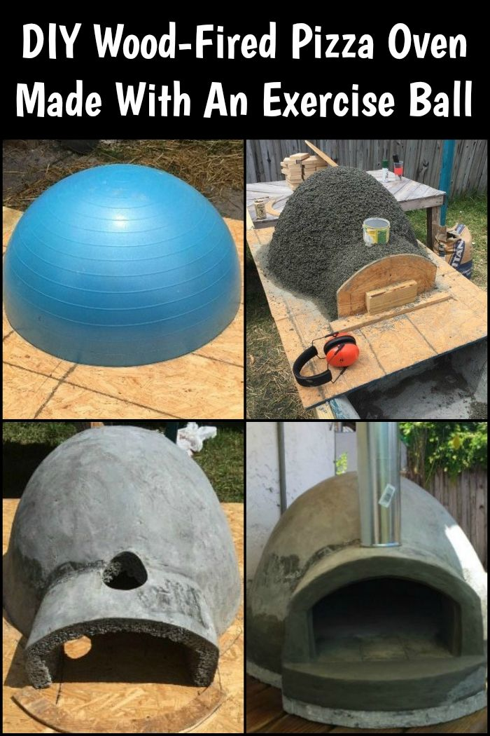 Did you know that you can build your own wood-fired pizza oven with an exercise ball? Here's how! #brickpizzaovenoutdoor