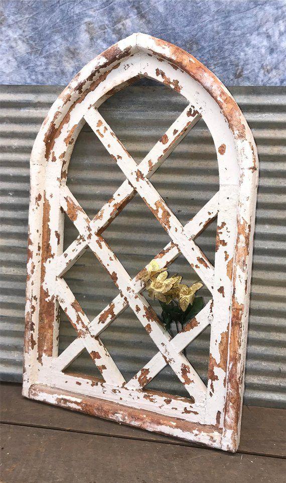 Gothic Arched Window Frame Farmhouse Wood Wall Decor Hangin