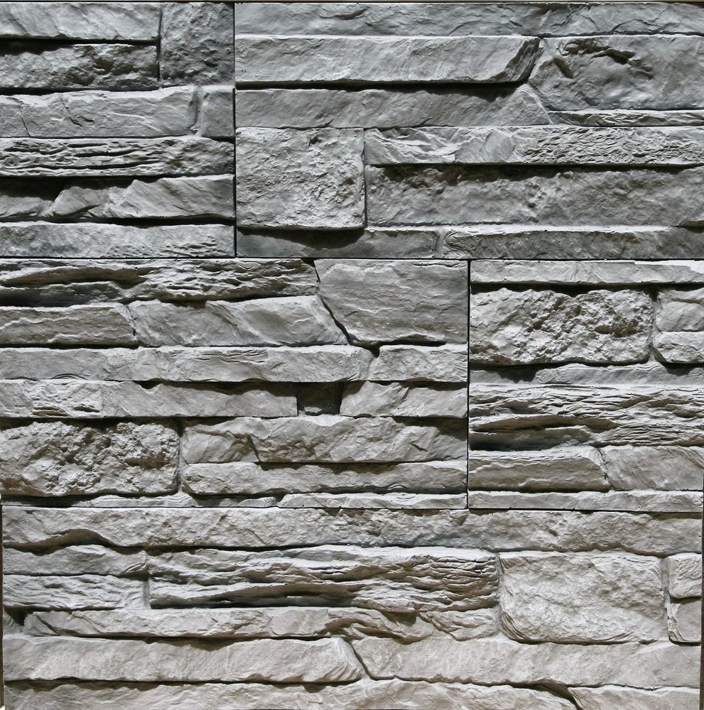 Details About Sample Stone Veneer Gypsum Stone Look Wall Decor Tenerife Gray