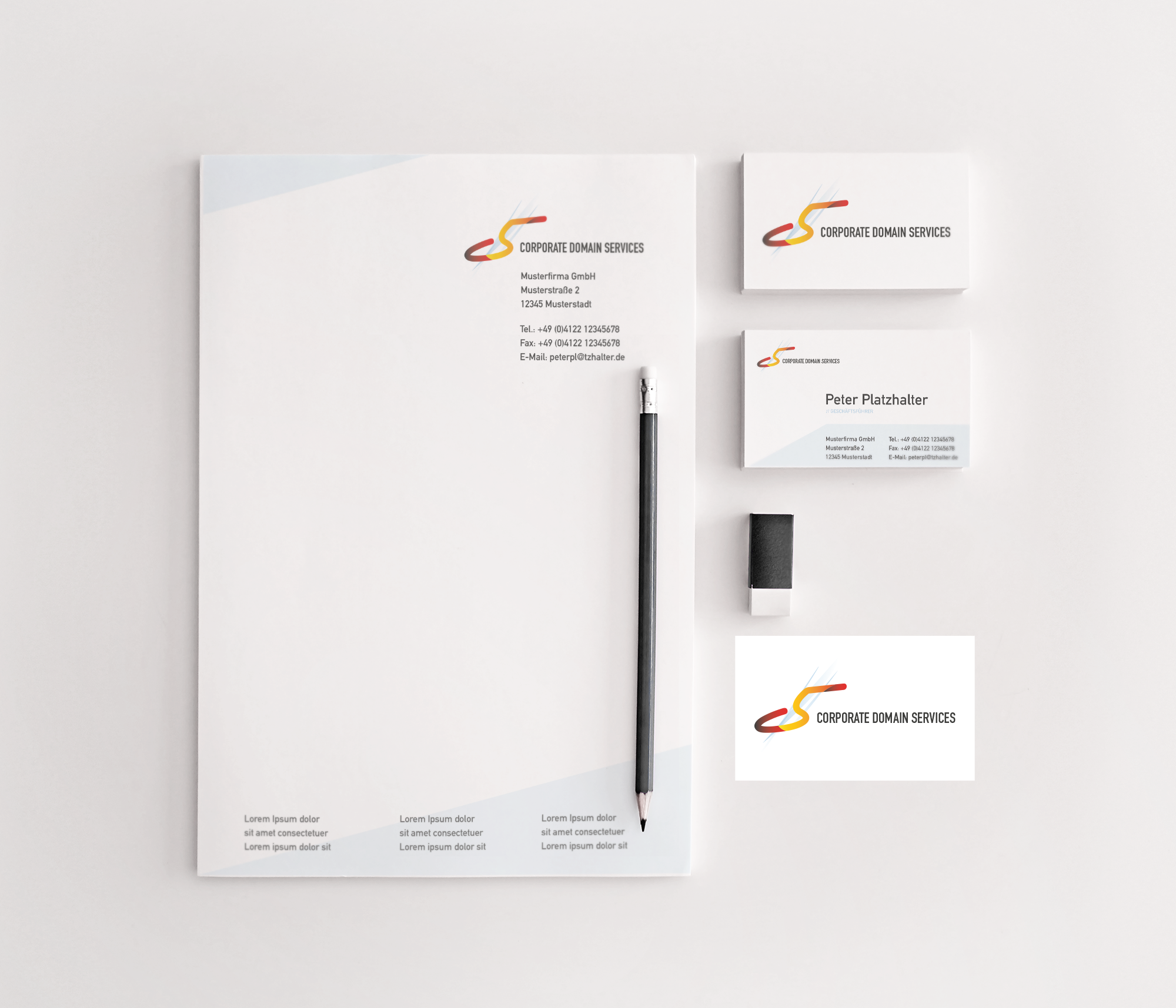 Mockup Für Logo Briefpapier Und Visitenkarte Briefpapier