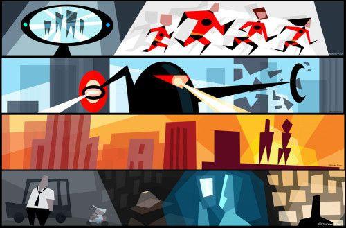 pixar incredibles lou romano colour script   pixart ...