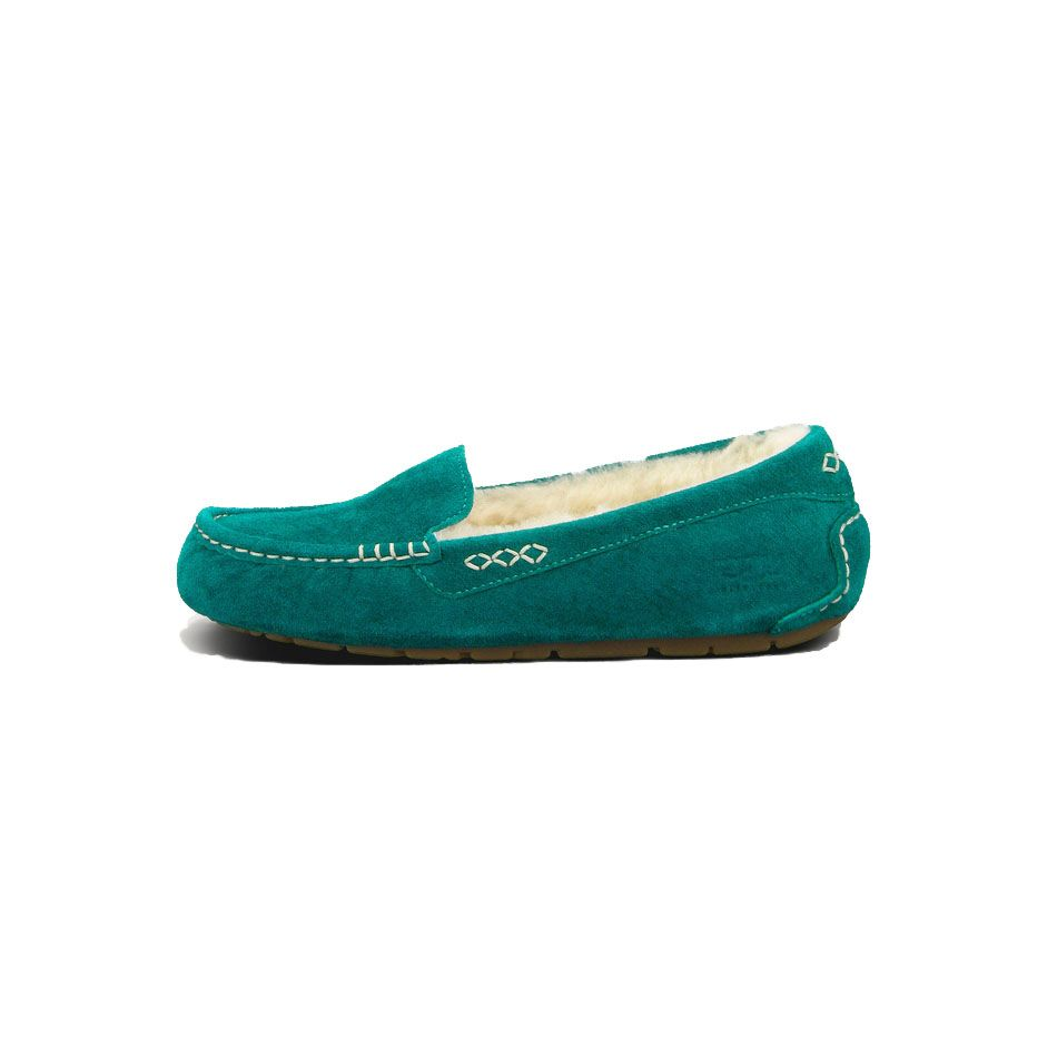 62008e30498 UGG Boots 3312 Ansley Moccasins Slippers Green AAA | Fashion | Ugg ...