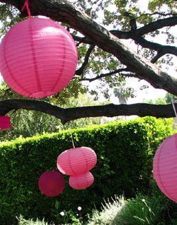 Hang Paper Lanterns From Trees