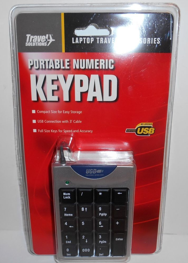 Travel Solutions Portable Numeric Keypad Model 60320 For