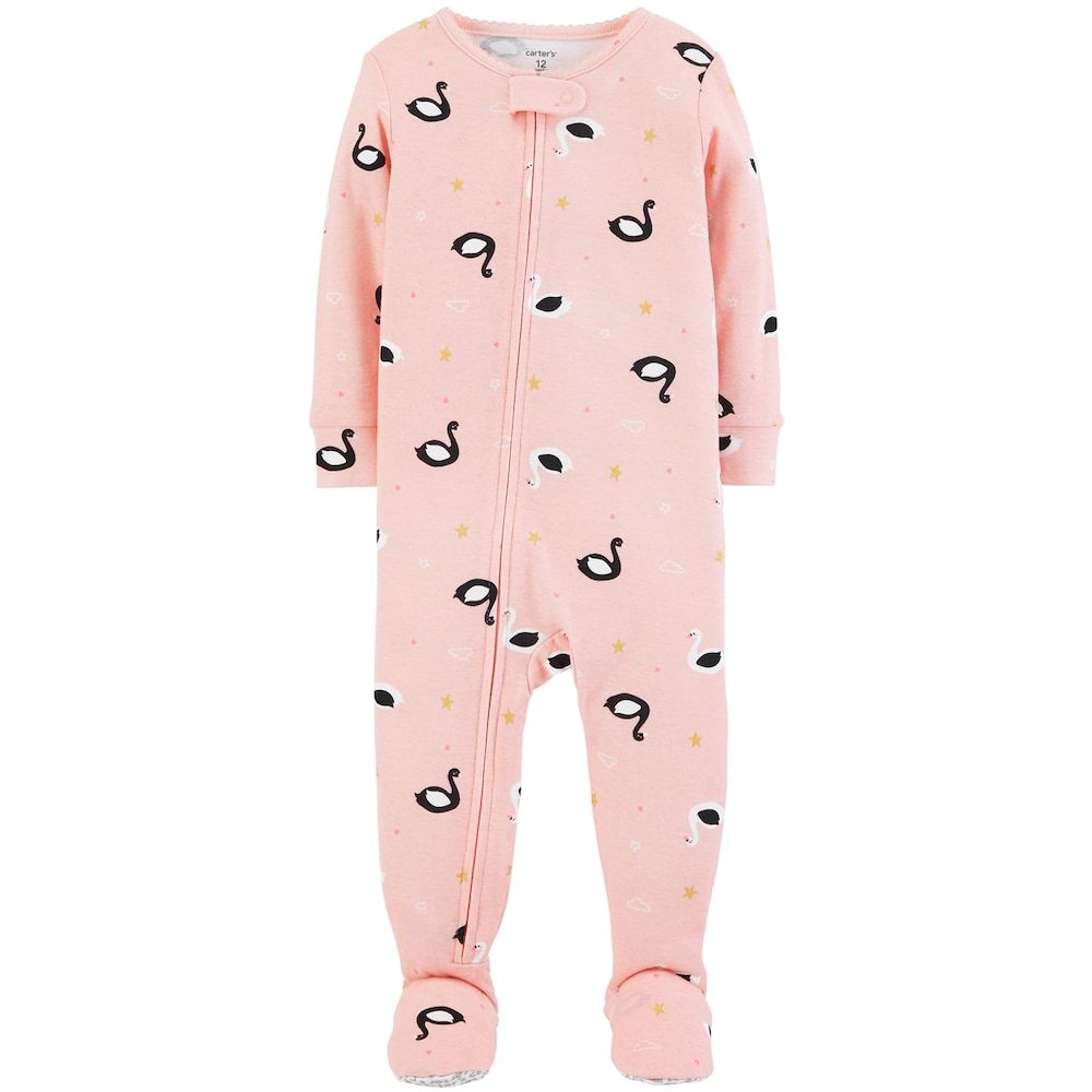 Long Sleeve 4T Pink Carters One-Piece Swan Pajamas