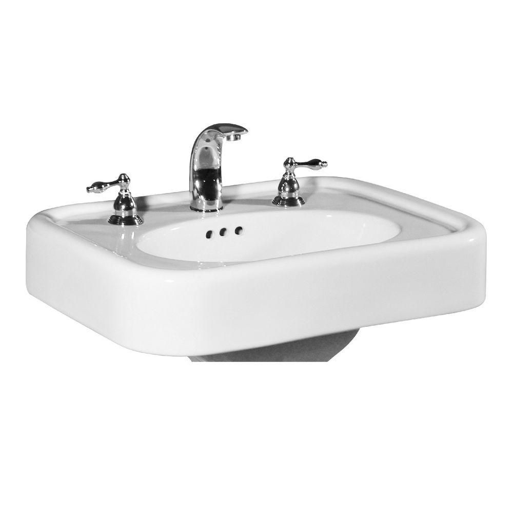 St Thomas Creations Liberty 25 In Pedestal Sink Basin In White