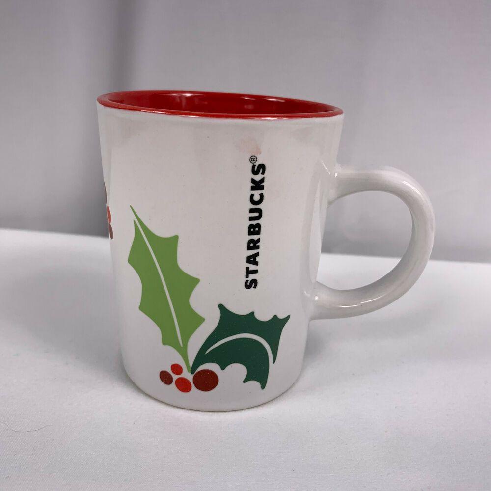 Starbucks Coffee 2011 Holiday Coffee Mug Christmas 9 Oz Holly Berry Small Size Ebay In 2020 Holiday Coffee Starbucks Christmas Starbucks Coffee
