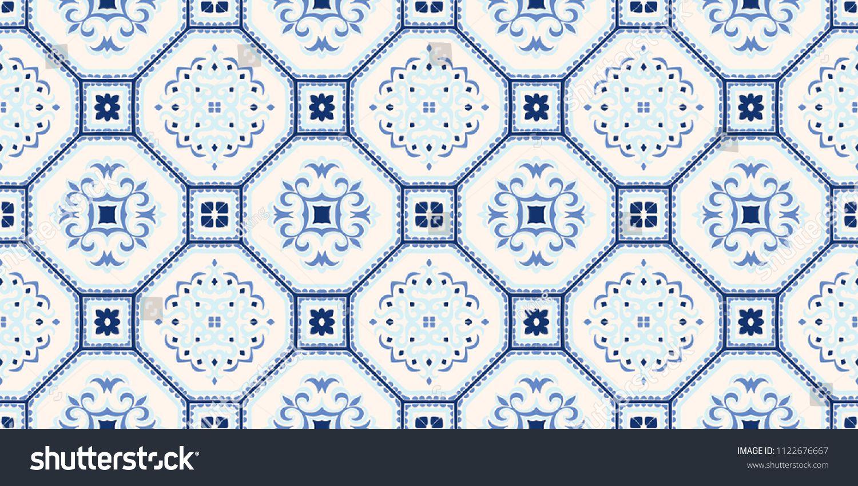 Talavera Pattern Azulejos Portugal Turkish Ornament Moroccan