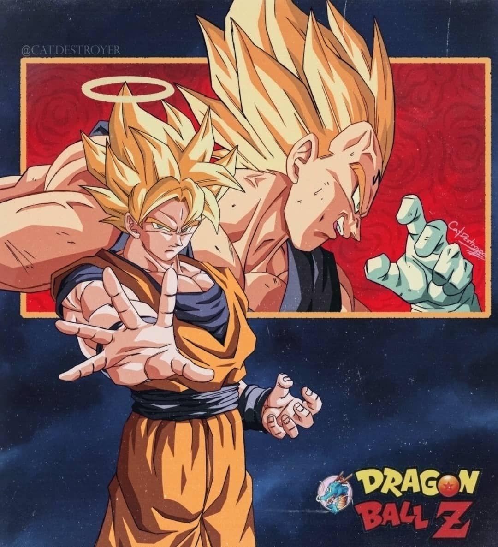 Cat On Instagram Aqui Dejo Este Intento De Arte Promocional Basada En Las Ilustraciones Antiguas D Personajes De Dragon Ball Personajes De Goku Ilustraciones
