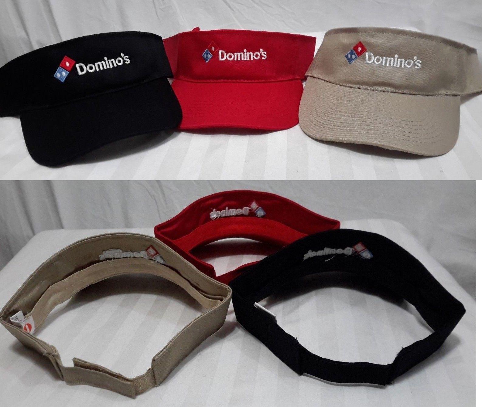 Hats 163526  New Domino S Pizza Restaurant Employee Uniform Sun Visor Cap  Hat Adjustable -  BUY IT NOW ONLY   14.97 on  eBay  domino  pizza   restaurant ... 89e0c7ffeae