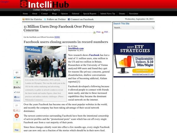 11 Million Users Drop Facebook Over Privacy Concern