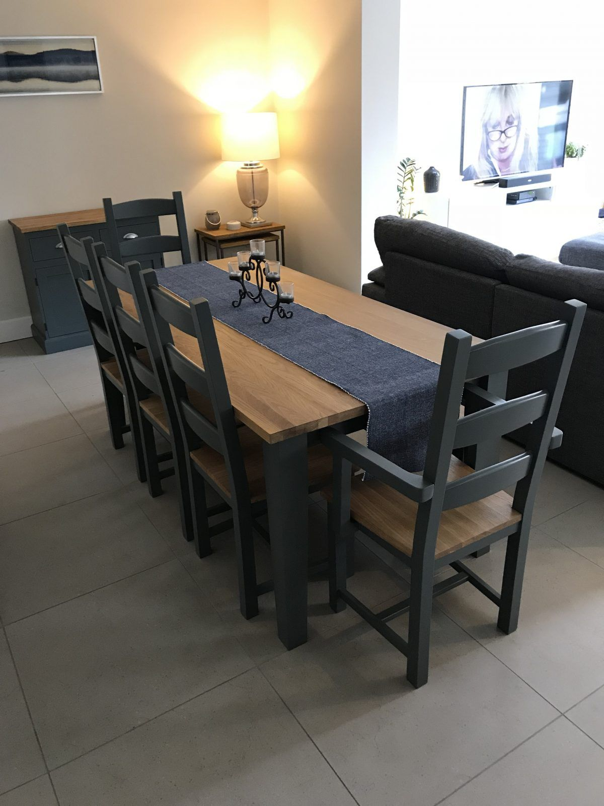 Solid Oak Table Set 5x3ft with Monks Bench Solid oak