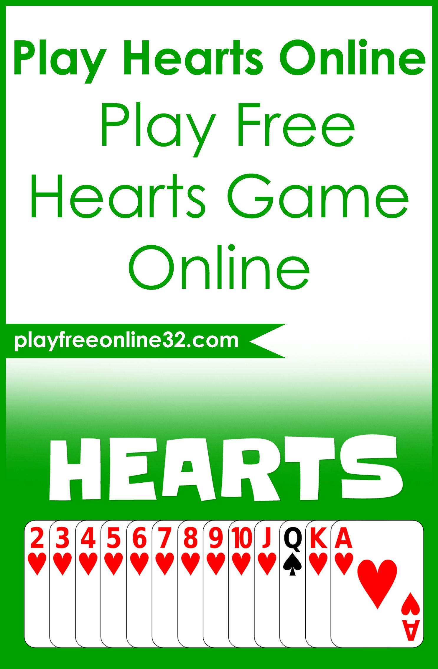 Play Hearts Online • Play Free Hearts Game Online Hearts