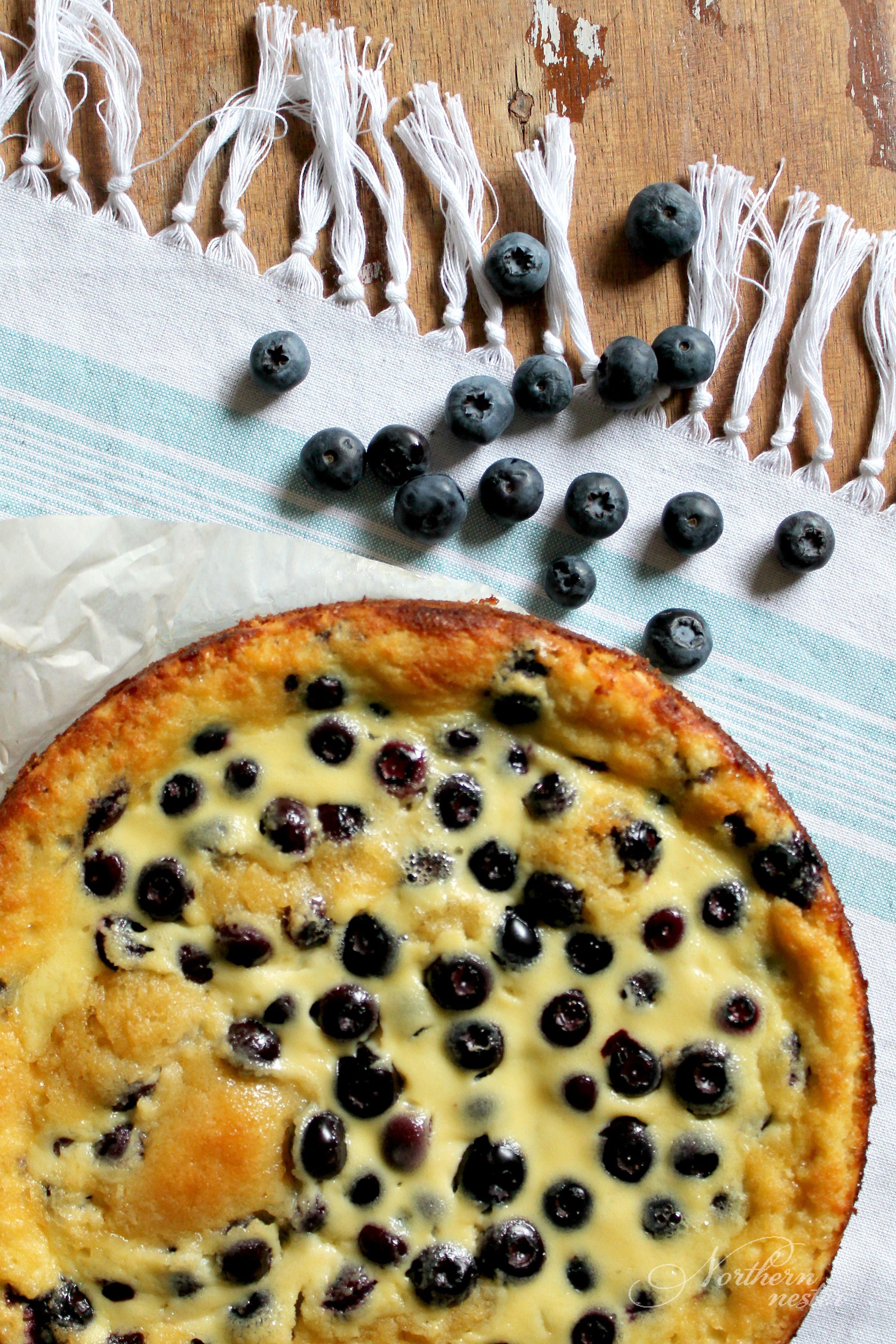 Blueberry sour cream cake thm s recipe blueberry