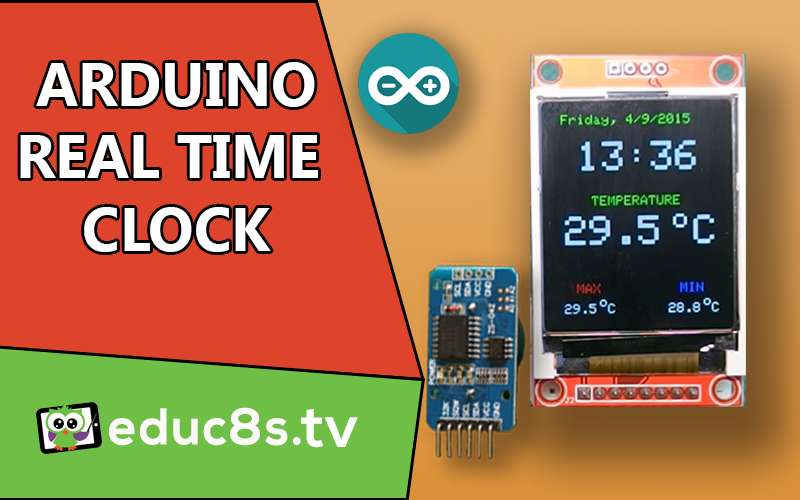 Building an an Arduino real time clock with a 1 8