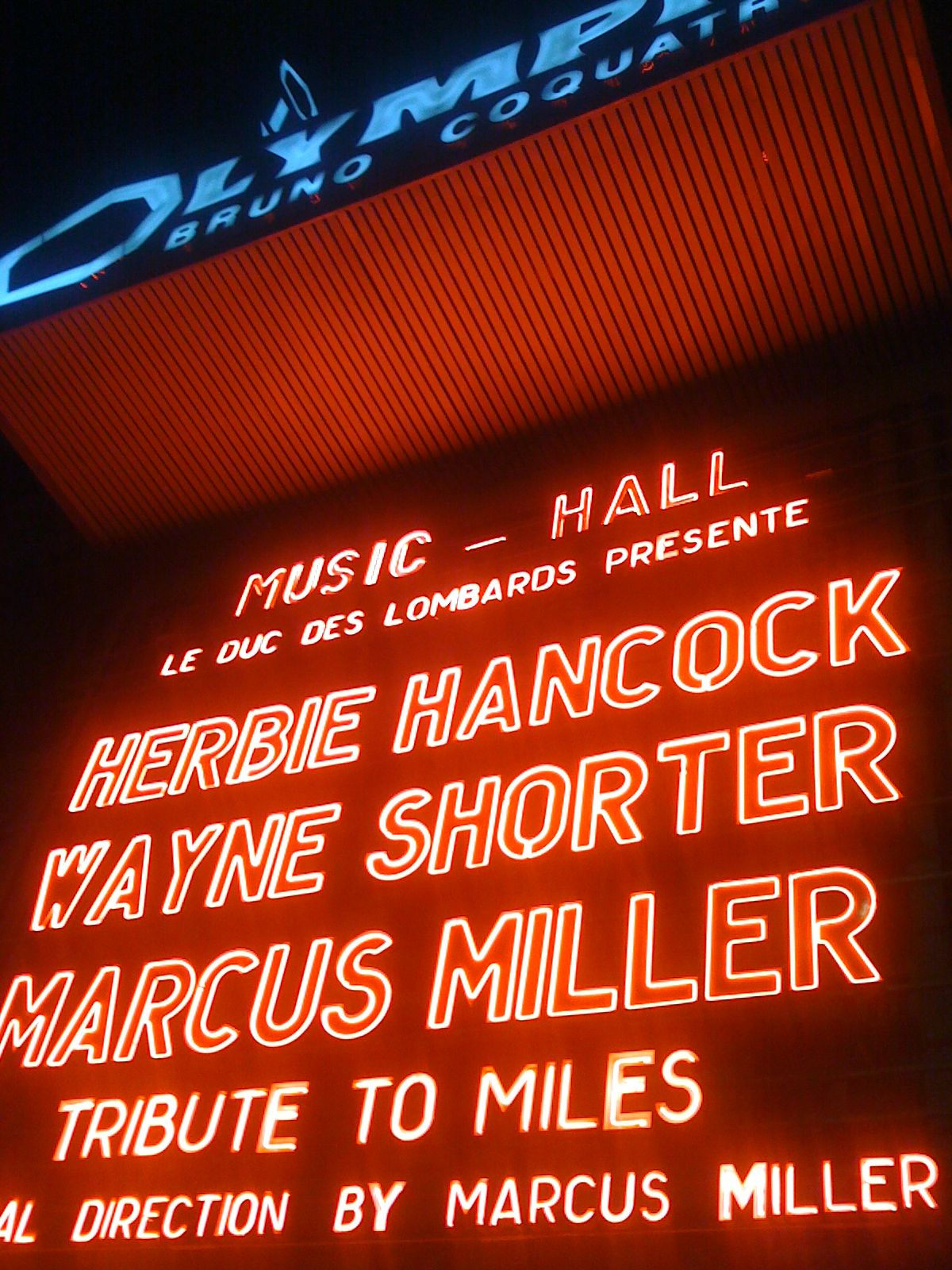 Herbie Hancock Wayne Shorter Marcus Miller At L Olympia Paris Fleurto Fleur Touchard Wayne Shorter Tribute Lombard