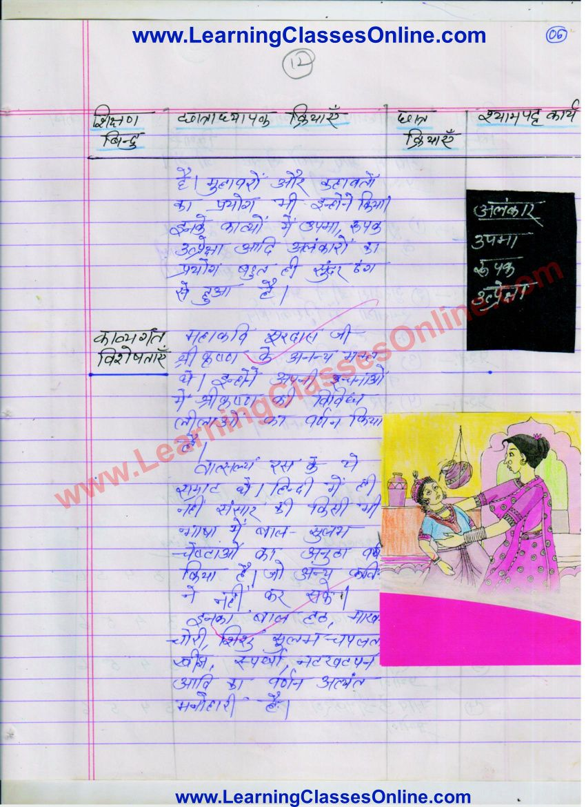 Lesson Plan For Hindi On Kavi Surdas For Class 6 To 8 Lesson Plan In Hindi Grammar Lesson Plans How To Plan [ 1169 x 850 Pixel ]