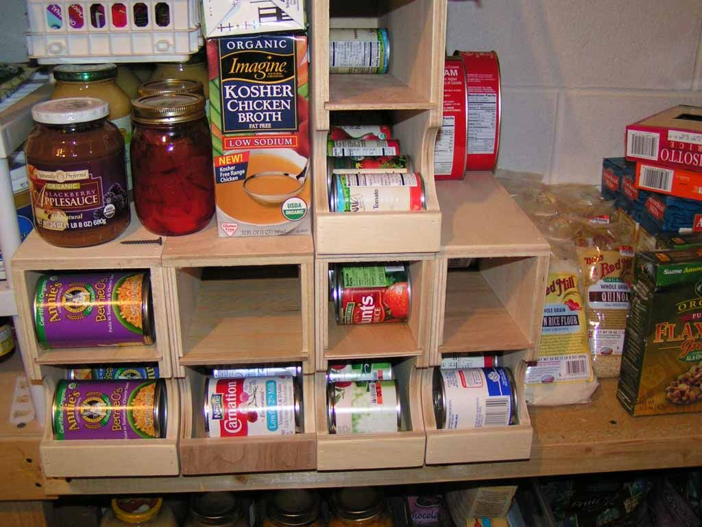 First in first out shelf plans diy fifo can storage for Pantry can storage diy
