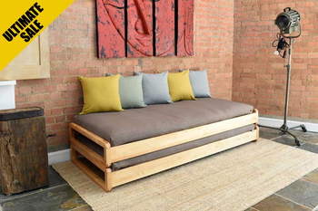 Birch Loop Stacking Bed Simple sofa, Sofa bed, Murphy bed