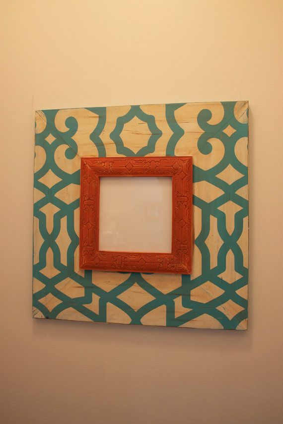 Fretwork Distressed 8x8 Wood Picture Frame with 8\