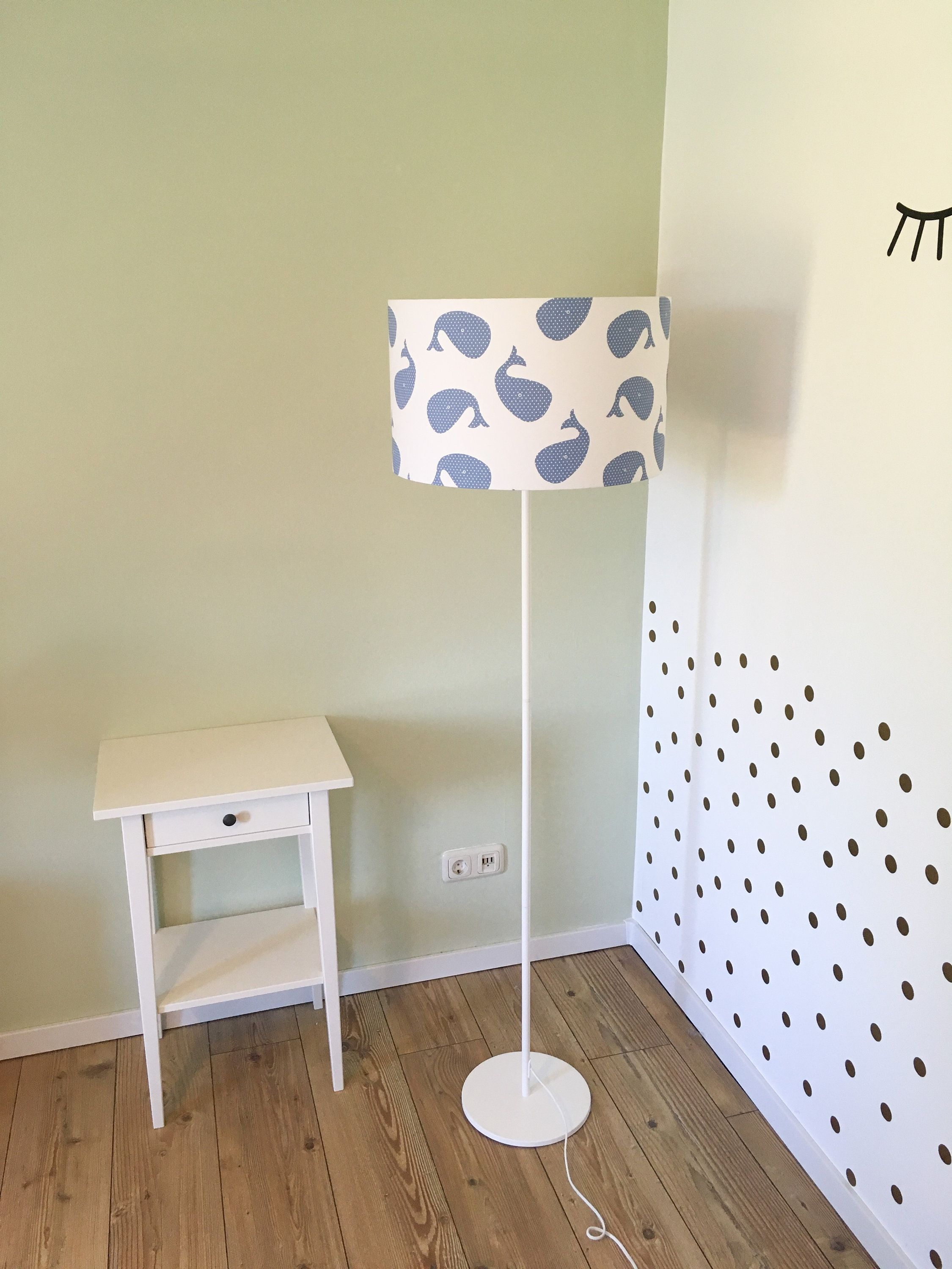 Floor lamp nursery whale, children's lamp, floor lamp