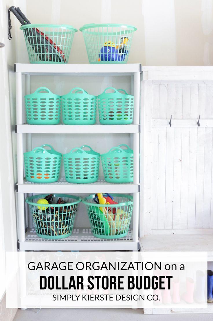 Garage Organization On A Dollar Store Budget Dollar Store Organizing Store Organization Home Organization
