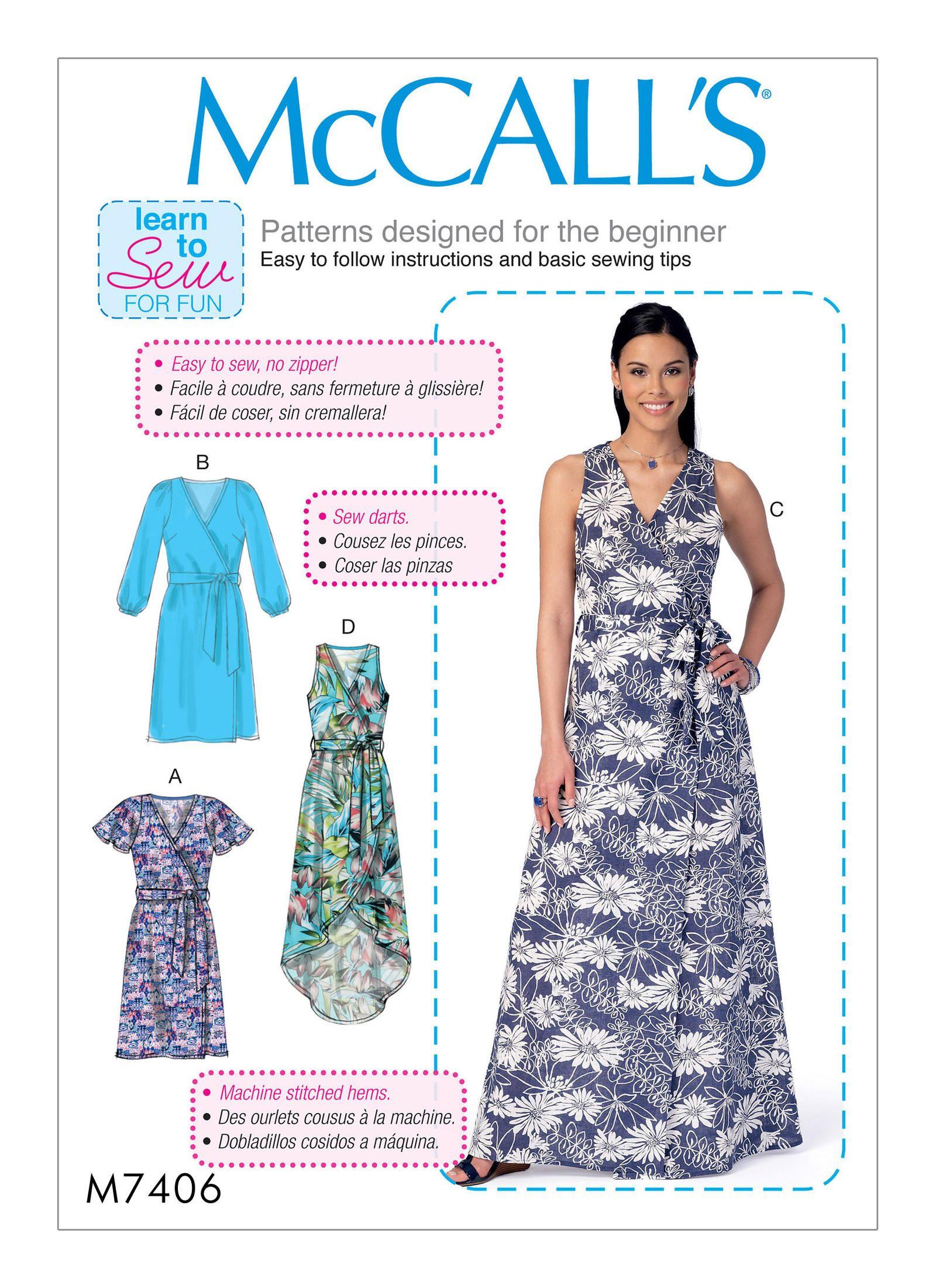 M7406   McCall\'s Patterns   Needle-Craft   Pinterest   Sewing ...