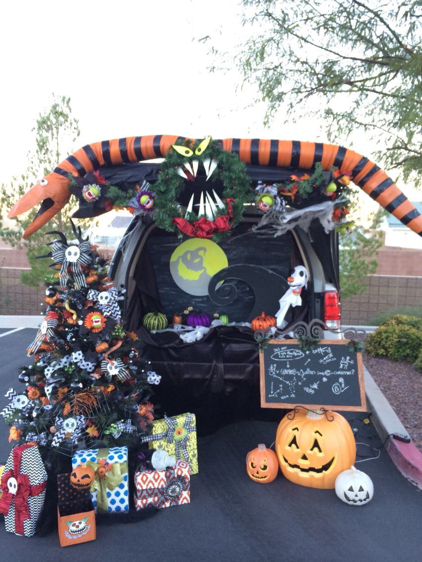Trunk or Treat - Nightmare before Christmas decorations. | Halloween ...