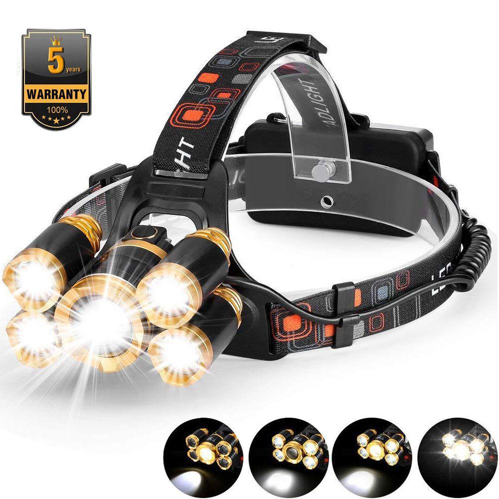 Super Bright Headlamps 30000Lumen 3x LED T6 LED 18650 Headlamp Head Torch Light