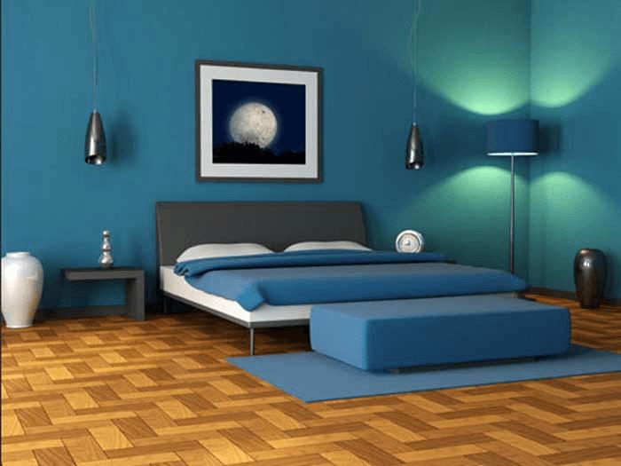 Schlafzimmer design blau Schlafzimmer Farbe Ideen