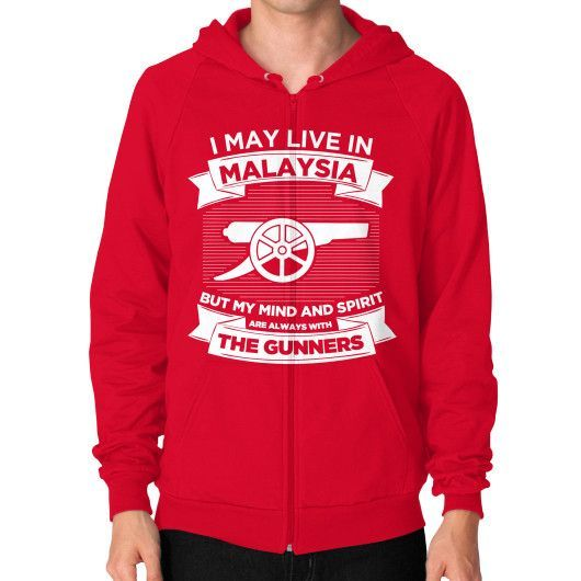 I MAY LIVE IN MALAYSIA Zip Hoodie (on man)