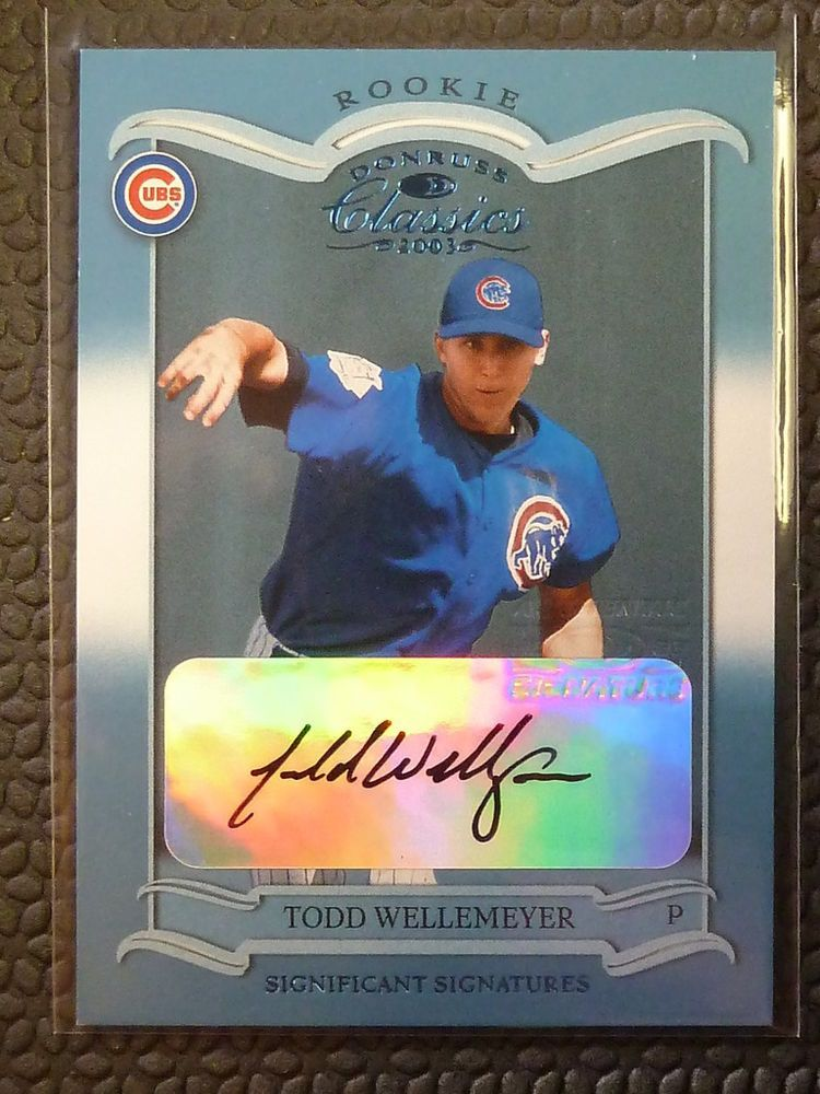 2003 Donruss Classics Todd Wellemeyer Auto Graph Rookie Card Rc 175