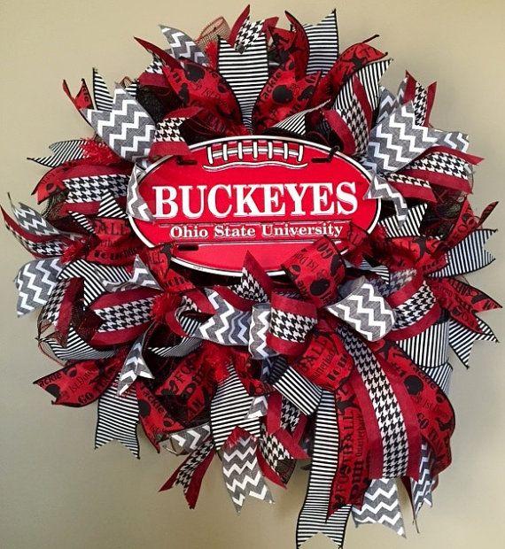 SALE OSU Wreath Ohio State Wreath Ohio State by WreathyWoman
