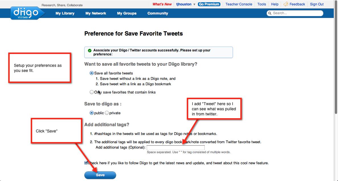 Use Diigo to save your favorite tweets! Teacher hacks