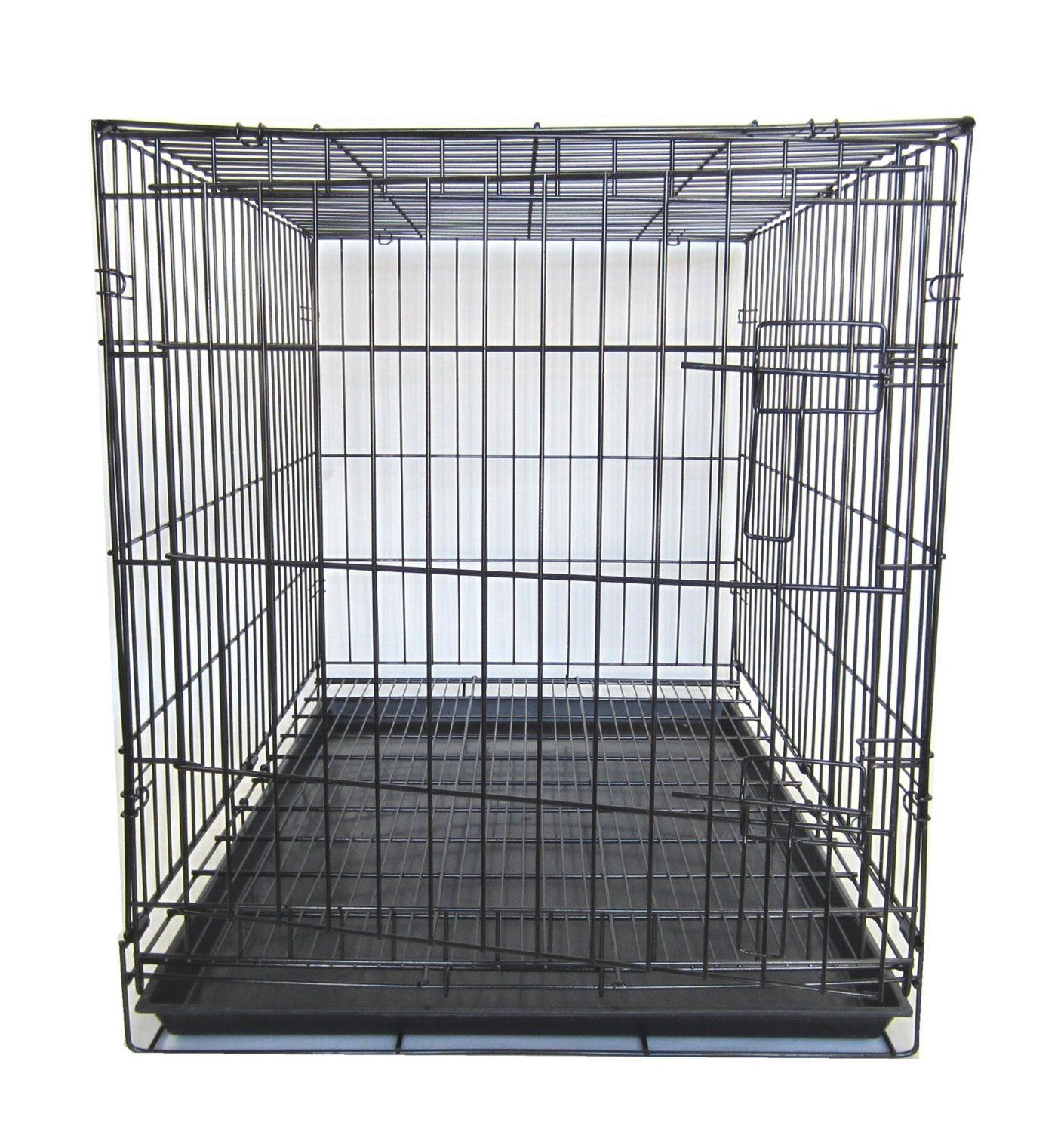 Yml 42 Inch Dog Kennel Cage With Wire Bottom Grate And Plastic Tray Black See This Awesome Image Dog Kennels Cheap Dog Kennels Large Dog Crate Dog Kennel
