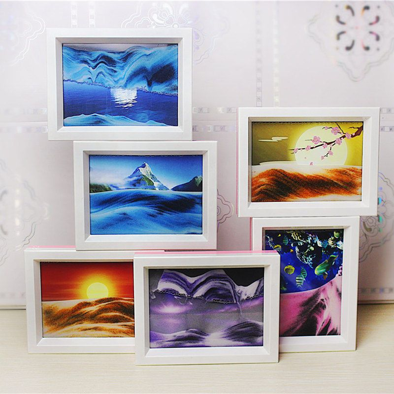Details about 1x framed sand art moving sand picture