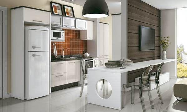 Confira 35 modelos de cozinha americana - Cozinha Planejada Pequena