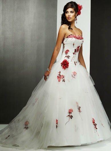 vestidos de novia con flores de colores, parte 2   wedding dressed