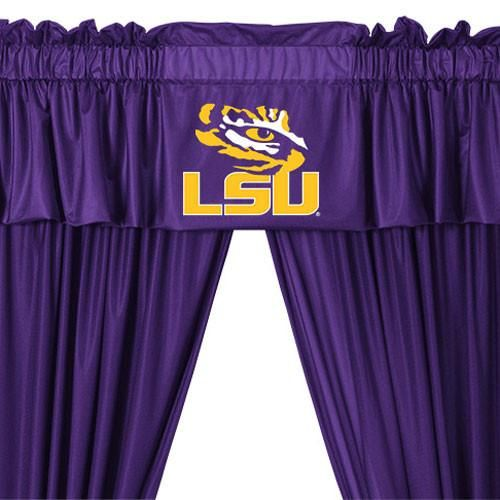 Ncaa Louisiana State Tigers 5pc Curtains And Valance Set 63drop