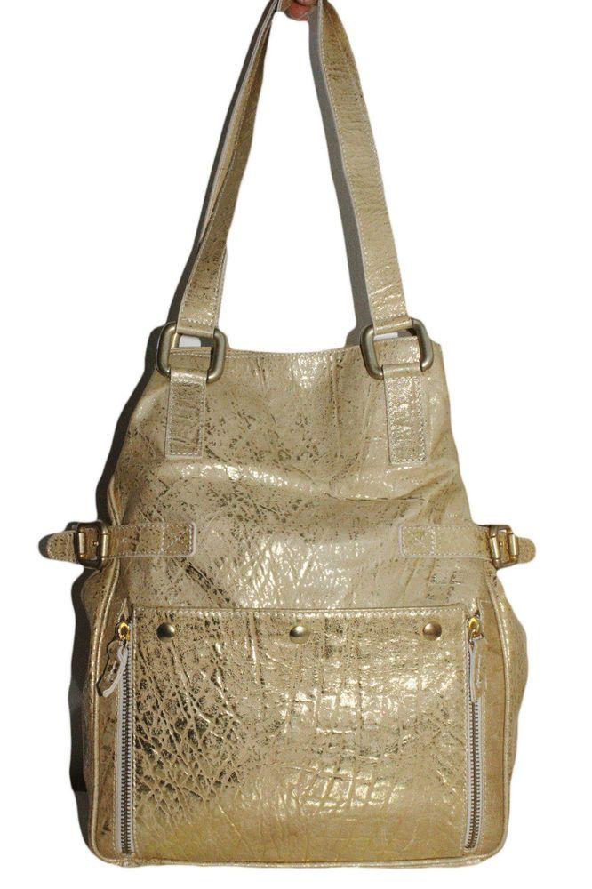 PARAVIDINO Womens Handbag Leather Gold #Paravidino #ShoulderBag