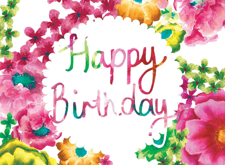 new card designs happy birthday in spring floral via etsy