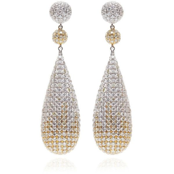 Gioia White & Yellow Diamond Drop Earrings ($48,000) ❤ liked on Polyvore featuring jewelry, earrings, diamonds, red, white jewelry, white drop earrings, red jewelry, druzy jewelry and 18k earrings