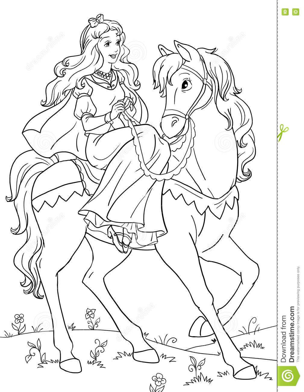 Horsed Princess Unicorn Coloring Pages Horse Coloring Books Horse Coloring Pages