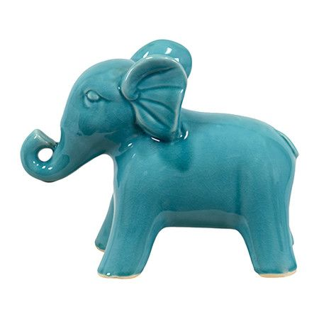 Elephant Décor in Turquoise at Joss & Main
