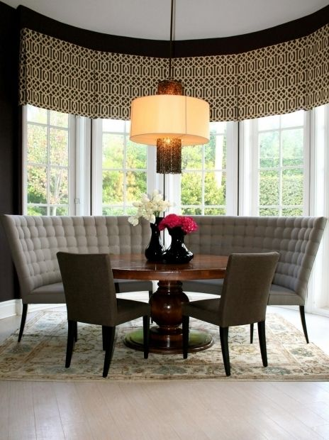 Incredible Round Dining Table With Curved Bench Dining Table